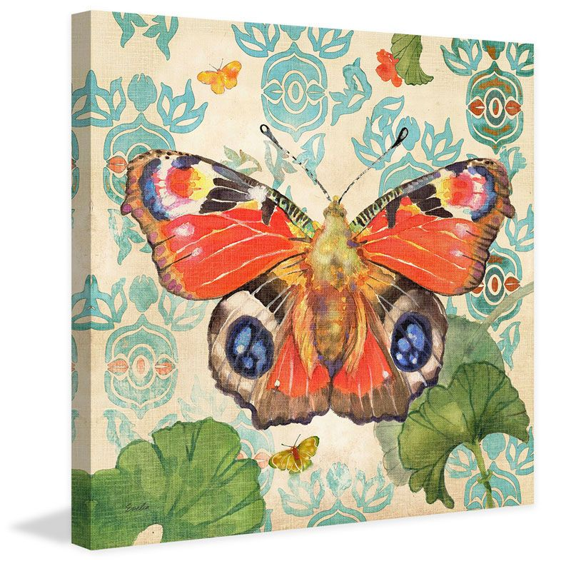 Marmont Hill European Peacock Butterfly Evelia Painting Print on