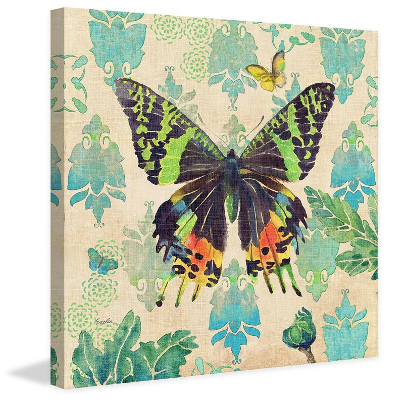 Marmont Hill Madagascar Sunset Butterfly 2 Evelia Painting Print on