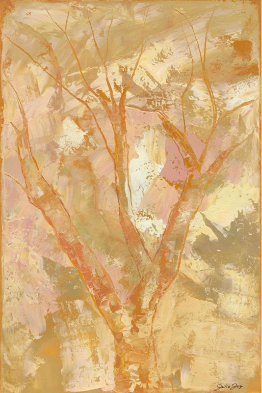 "Marmont Hill Peach Blossom ""Peach Blossom"" by Julie Joy Painting"
