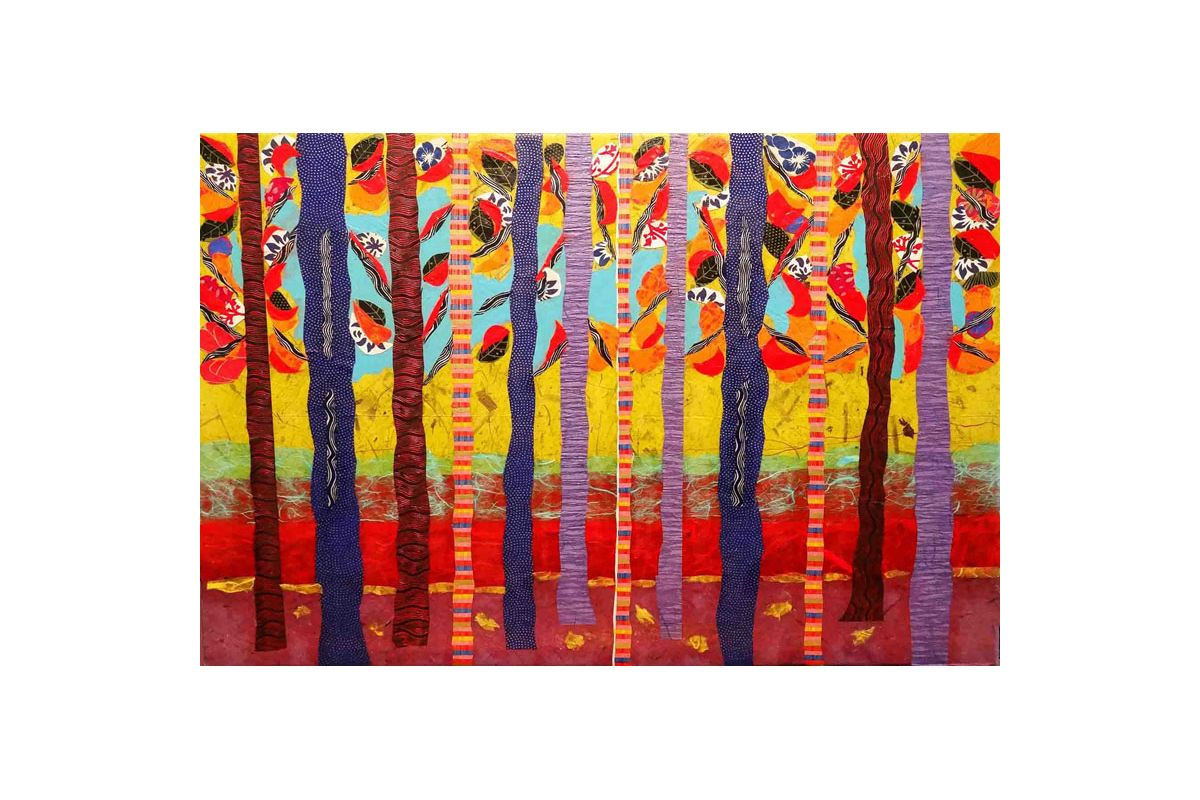 Marmont Hill Birch Tree Grove Lisa Mee Painting Print on Canvas 12 x