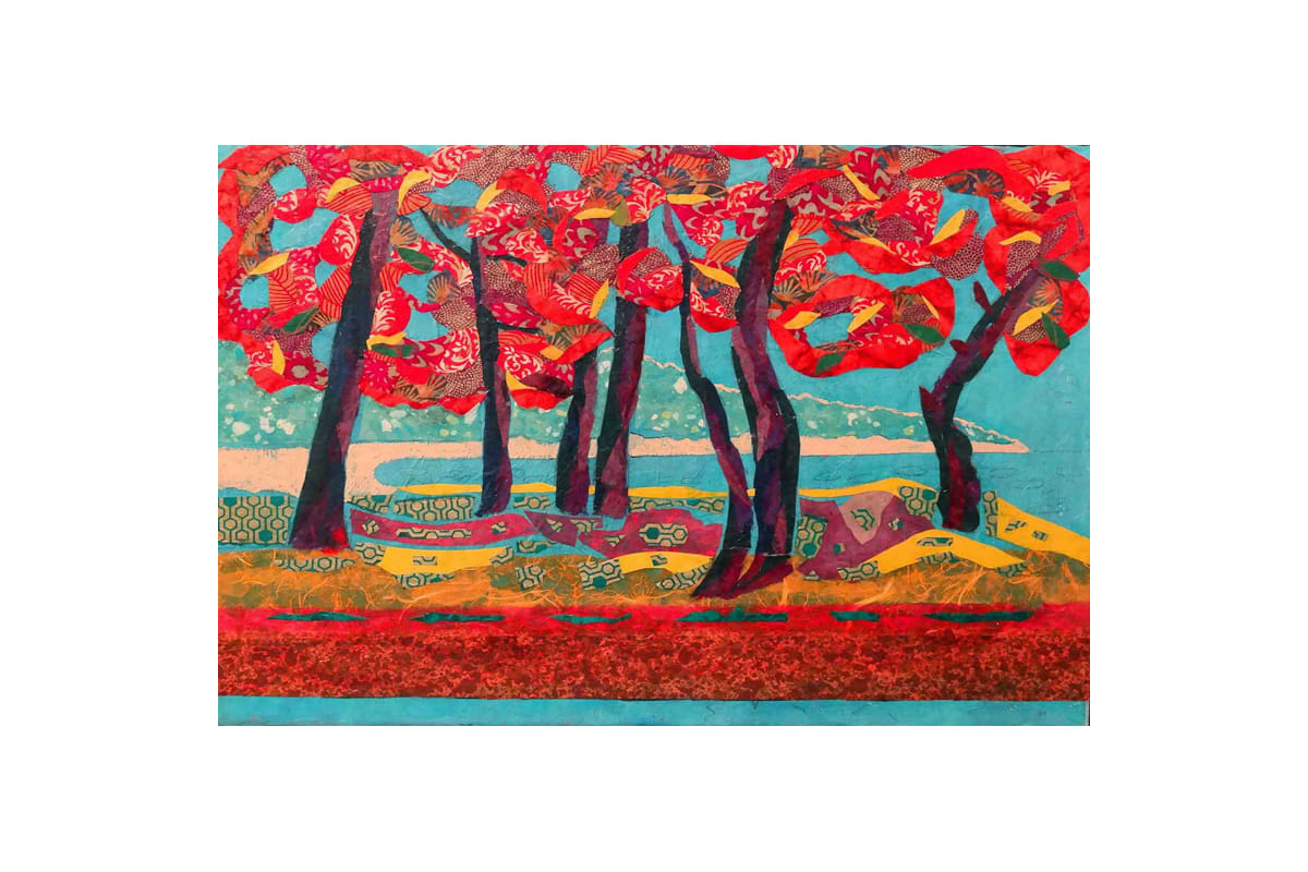 Marmont Hill Autumn Grove Lisa Mee Painting Print on Canvas 20 x 30