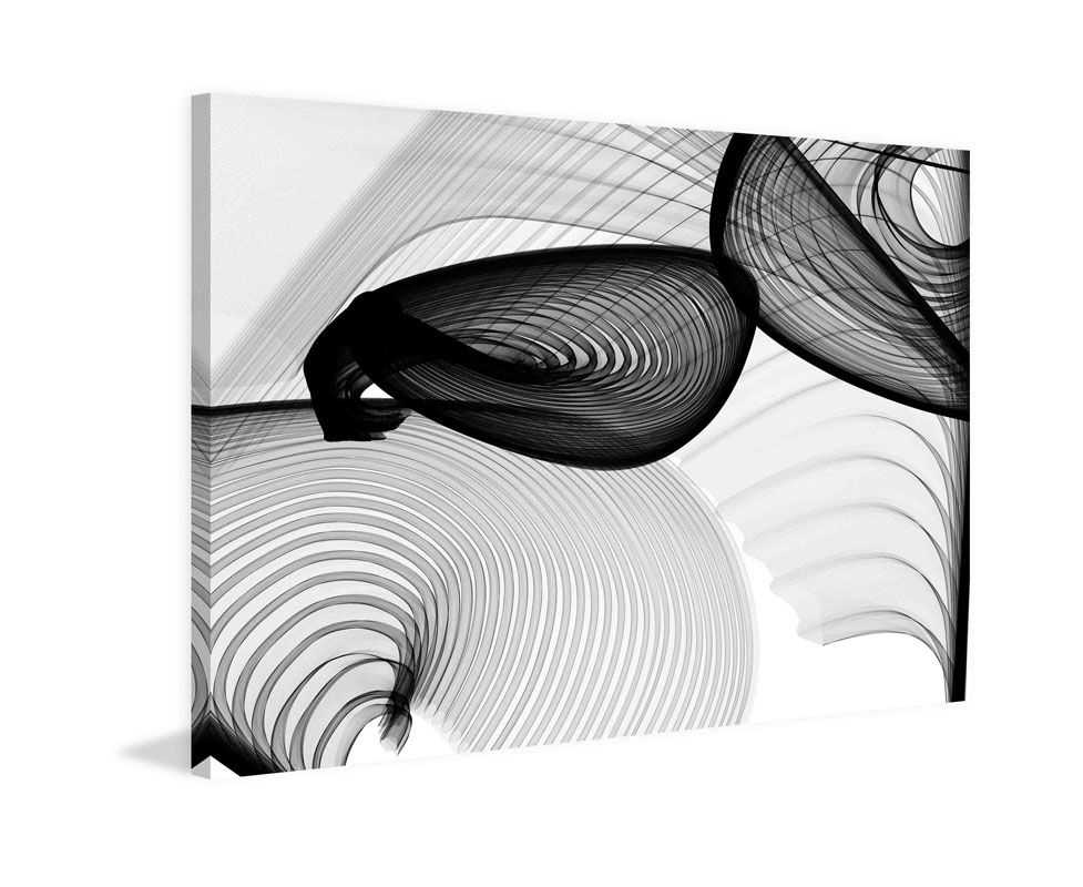 Marmont Hill Abstract Black and White 22-15-51 v1 Irena Orlov Painting