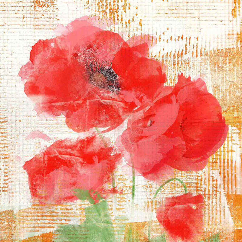 Marmont Hill Abstract Poppies II Irena Orlov Painting Print on Canvas
