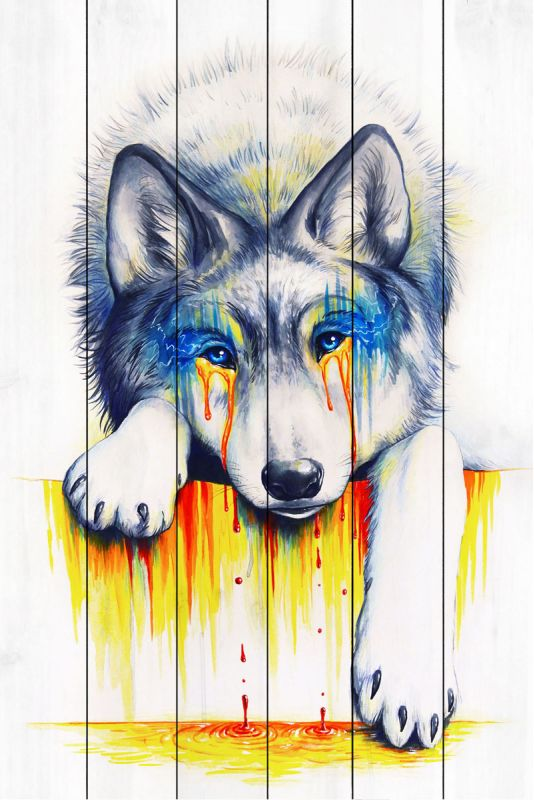 Marmont Hill Drowning in Tears Painting Print on White Wood 36 x 24