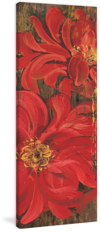 Marmont Hill Floral Frenzy Red II 41 Painting Print on Canvas 45 x 15