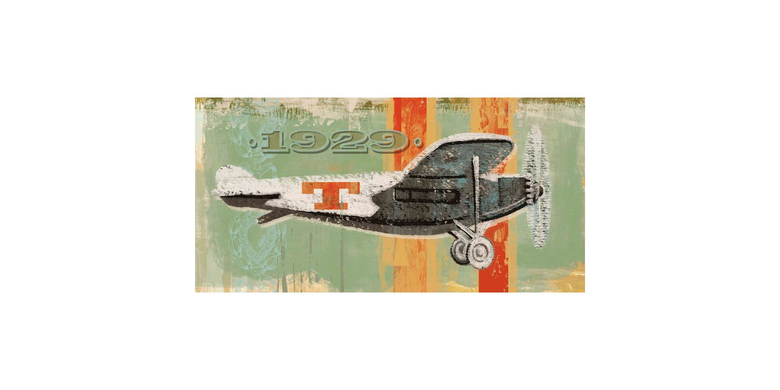 Marmont Hill Vintage Plane 1929 Painting Print on Canvas 22 1/2 x 45