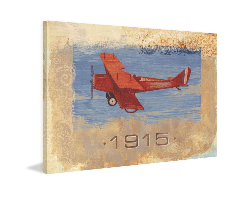 Marmont Hill Vintage Plane 1915 Painting Print on Canvas 24 x 36 Home