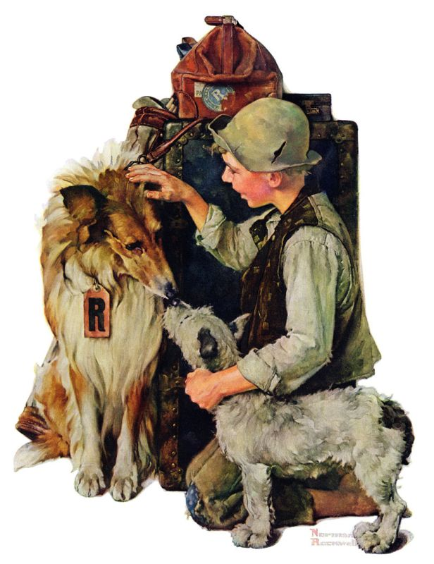 Marmont Hill Raleigh Rockwell on Canvas Norman Rockwell Painting Print
