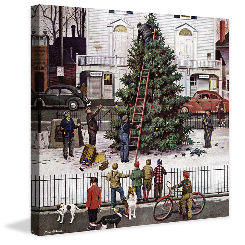 Marmont Hill Tree in Town Square Stevan Dohanos Painting Print on
