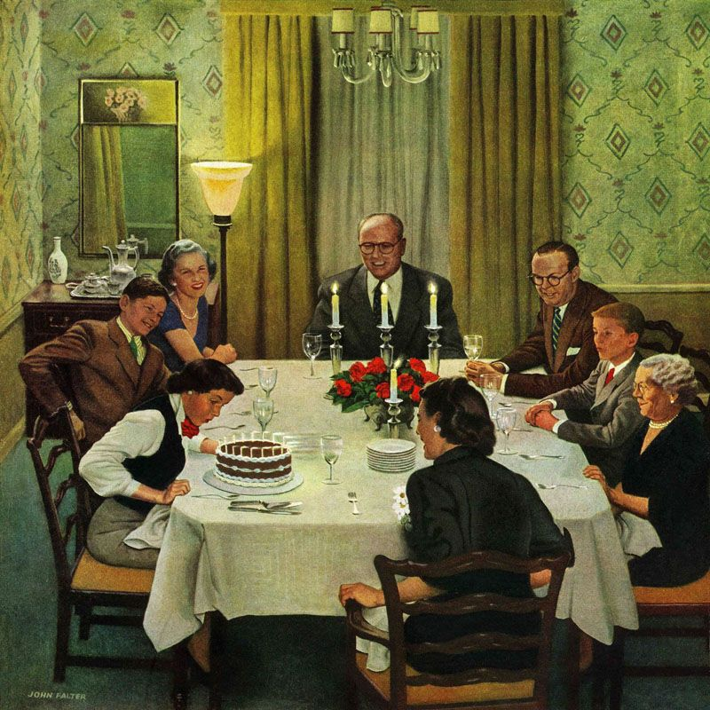 Marmont Hill Family Birthday Party John Falter Painting Print on