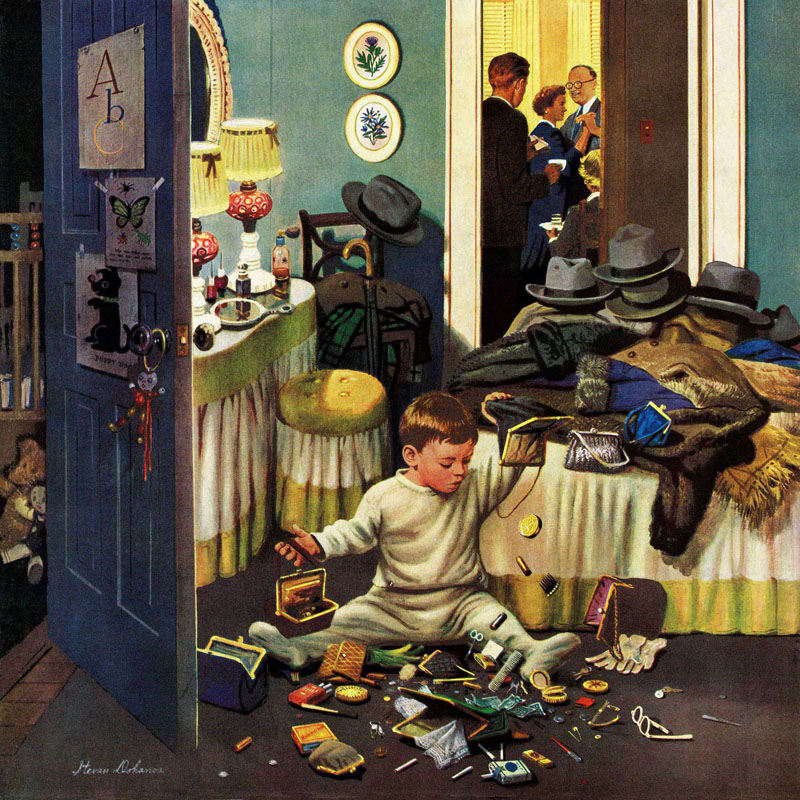 Marmont Hill Toddler Empties Purses Stevan Dohanos Painting Print on Sale $235.00 ITEM: bci2819703 ID#:MH-RETR-226-C-40 UPC: 733520073567 :