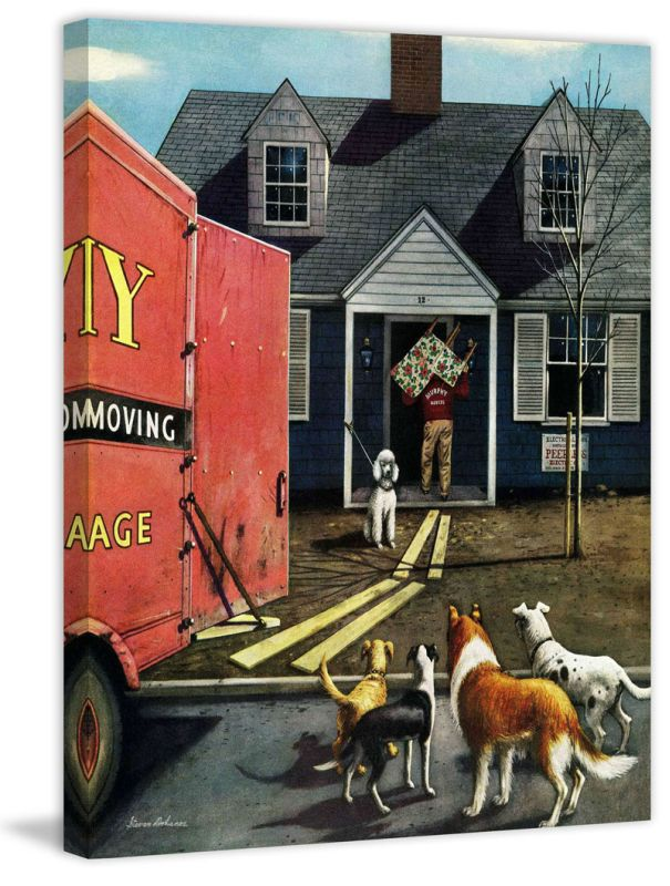 Marmont Hill New Dog in Town Stevan Dohanos Painting Print on Canvas