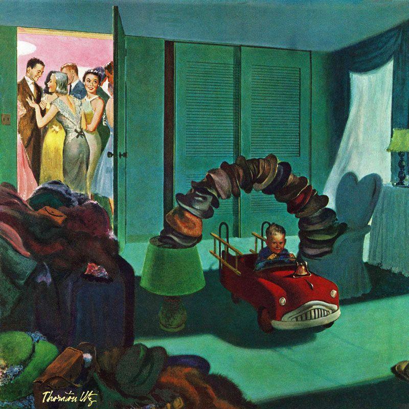 Marmont Hill Hat Bridge Thornton Utz Painting Print on Canvas 40 x 40