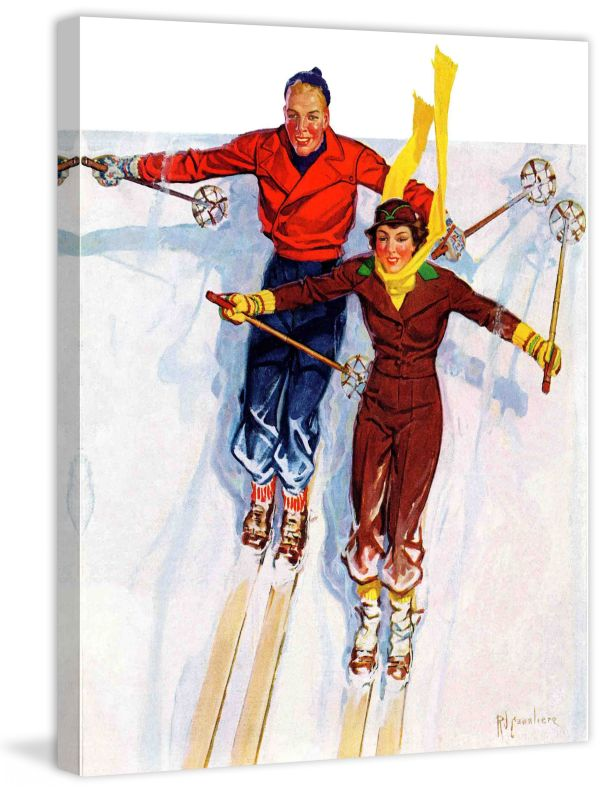 Marmont Hill Couple Downhill Skiing Fine art canvas print from the Sale $162.69 ITEM: bci2738704 ID#:MH-SEPSP-164-C-29 UPC: 714367399096 :