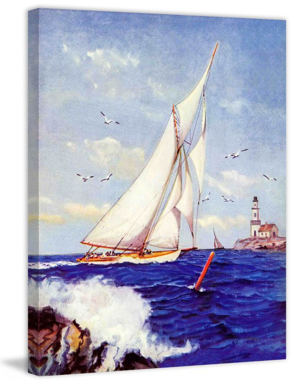 Marmont Hill Sailing By The Lighthouse Fine art canvas print from the Sale $162.69 ITEM: bci2738798 ID#:MH-SEPSP-179-C-31 UPC: 714367399508 :