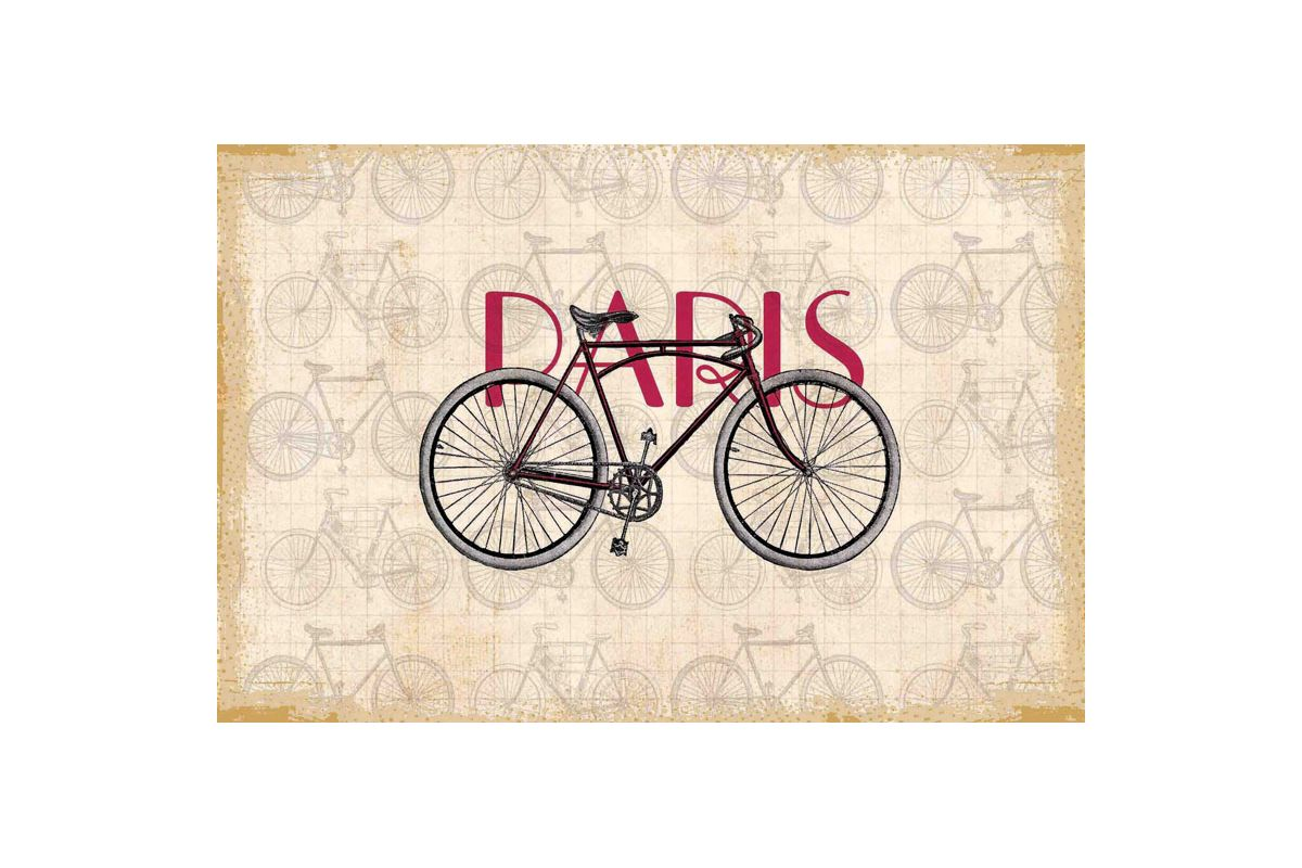 Marmont Hill Paris Bike Print on Canvas 12 x 18 Home Decor Canvas Art
