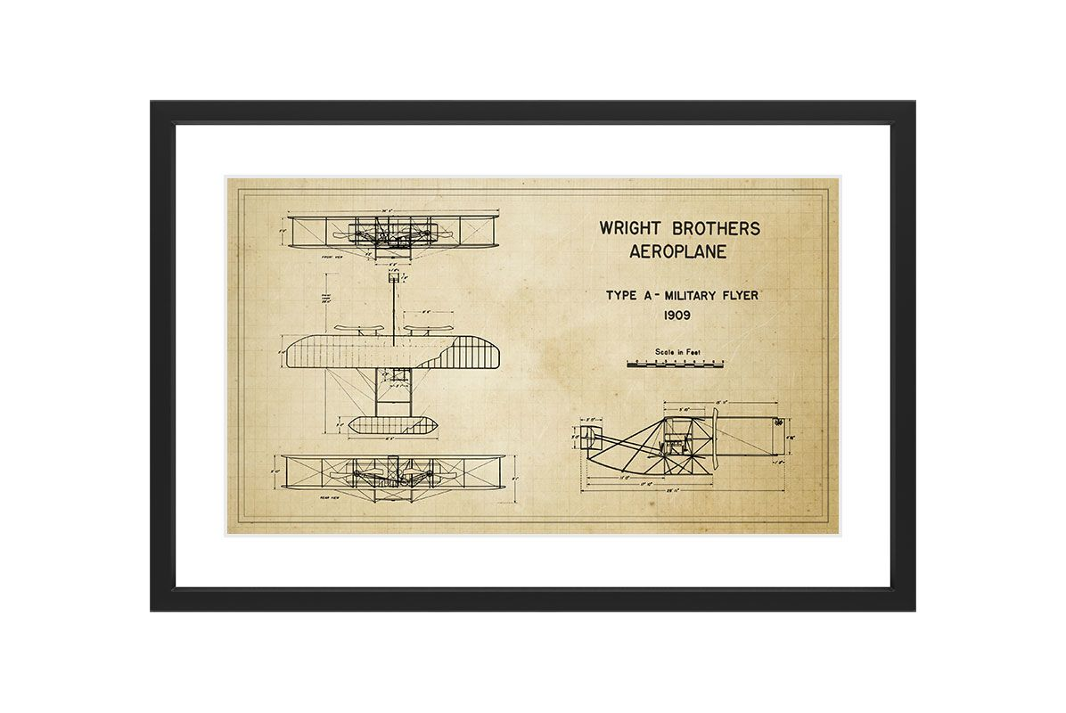 Marmont Hill Military Flyer - Black Framed Art Print Smithsonian Black