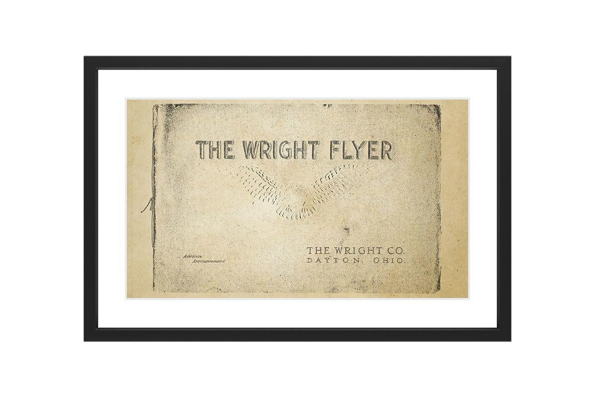 Marmont Hill Wright Flyer - Black Framed Art Print Smithsonian Black
