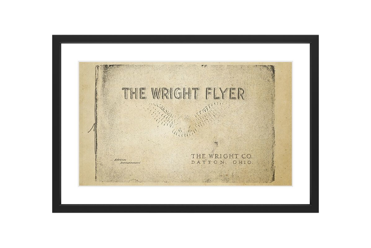 Marmont Hill Wright Flyer - Black Framed Art Print Smithsonian Black