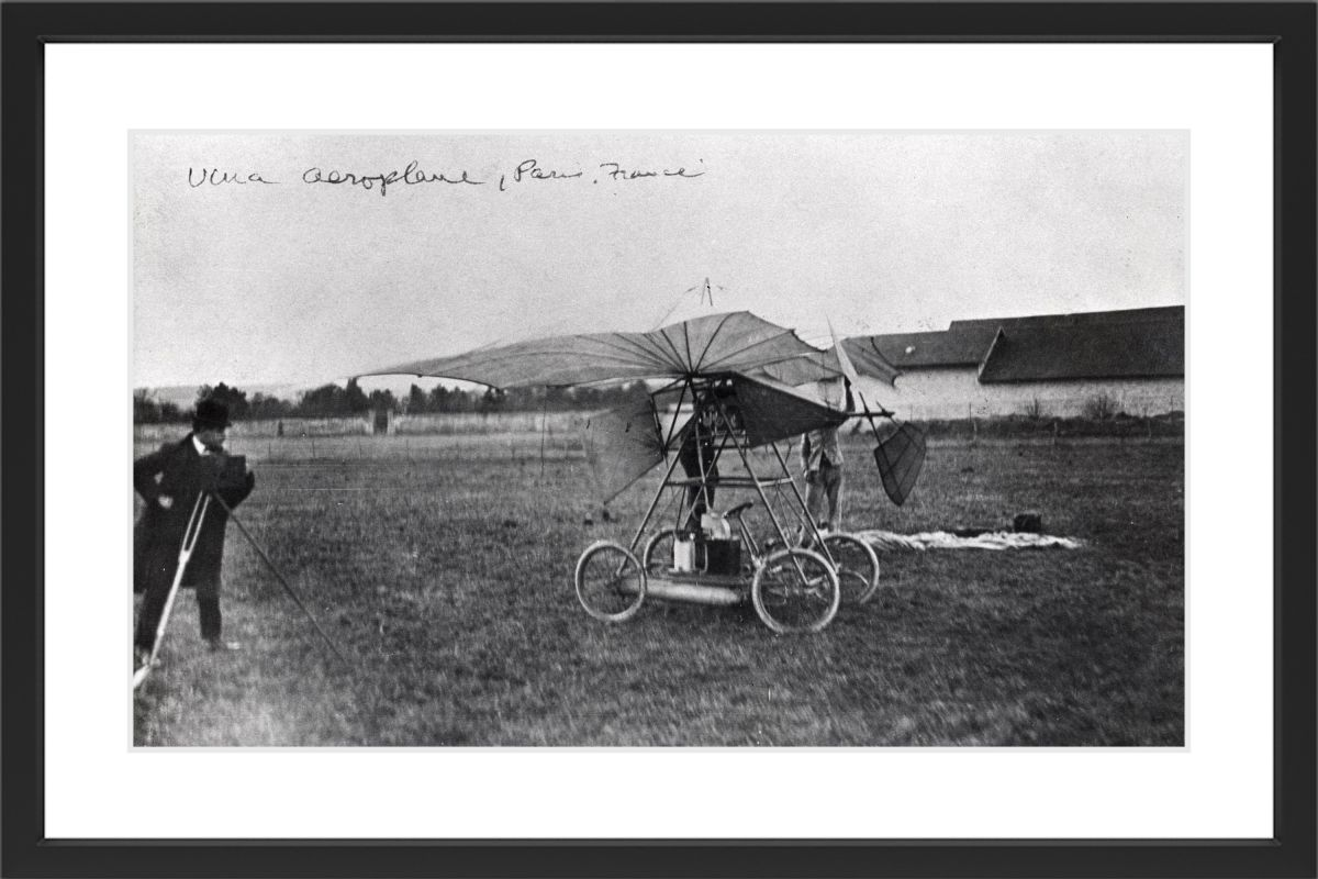 Marmont Hill Aeroplane Paris - Black Framed Art Print Smithsonian