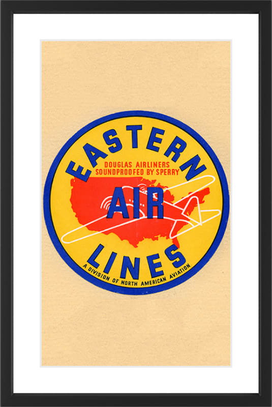 Marmont Hill Eastern Airlines - Black Framed Art Print Smithsonian