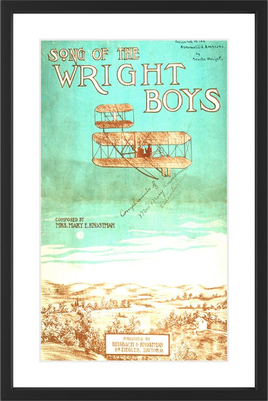 Marmont Hill Wright Brothers - Black Framed Art Print Smithsonian