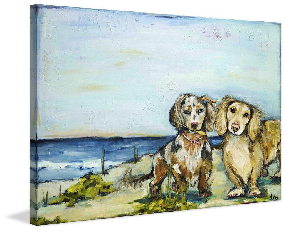 Marmont Hill Beautiful Dachshunds - on Canvas Fine art print on canvas Sale $162.69 ITEM: bci2741736 ID#:MH-TORI-31-C-36 UPC: 714367478968 :