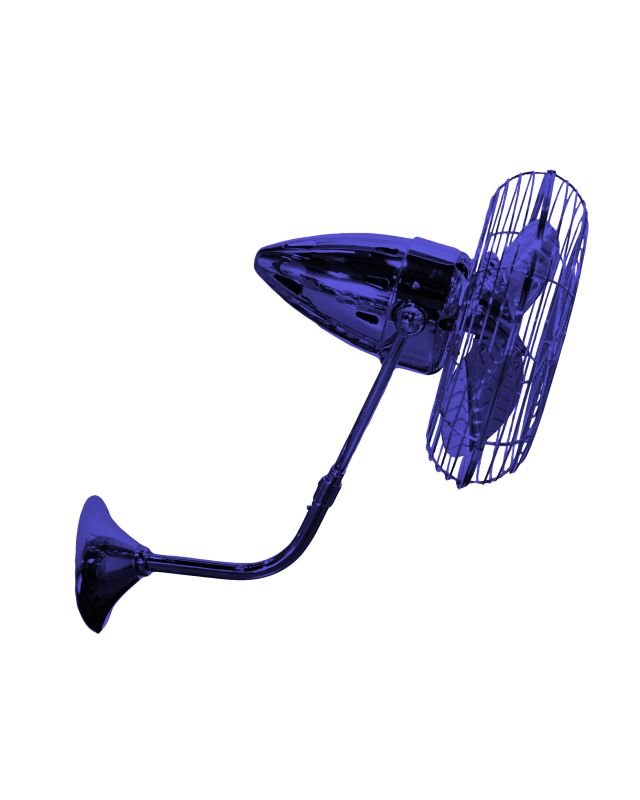 Matthews Fan Company BP-MTL Bruna Parede Wall Fan - Blades and Wall Sale $1180.00 ITEM: bci2377307 ID#:BP-BLUE-MTL :