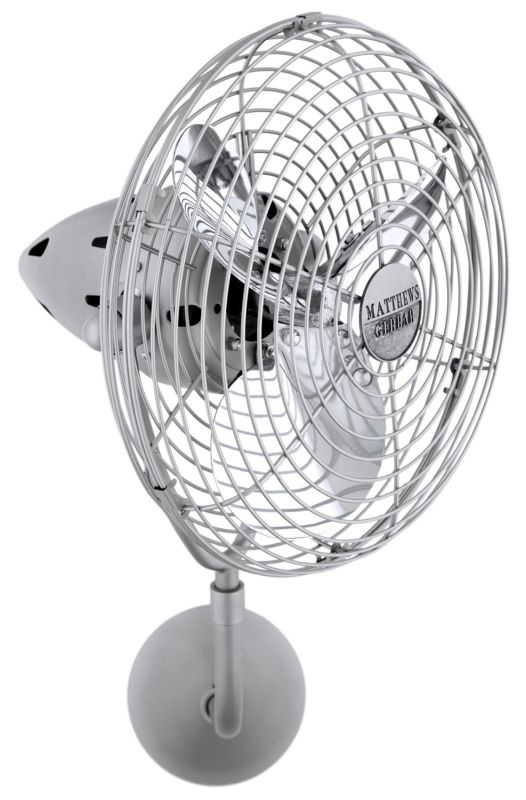 Matthews Fan Company BP-MTL Bruna Parede Wall Fan - Blades and Wall Sale $1184.00 ITEM: bci2377308 ID#:BP-BN-MTL-DAMP :
