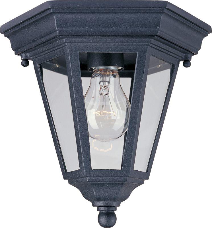 Maxim MX 1027 Westlake Single-Bulb Flush Mount Outdoor Ceiling Fixture