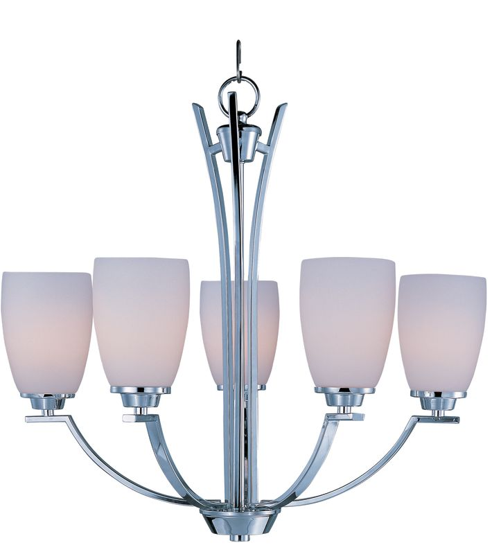 Maxim 20025 Rocco 5 Light 1 Tier Chandelier Polished Chrome Indoor