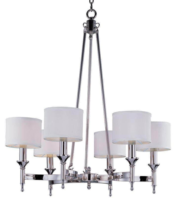 Maxim 22375 Fairmont 6 Light 1 Tier Candle Style Chandelier Polished
