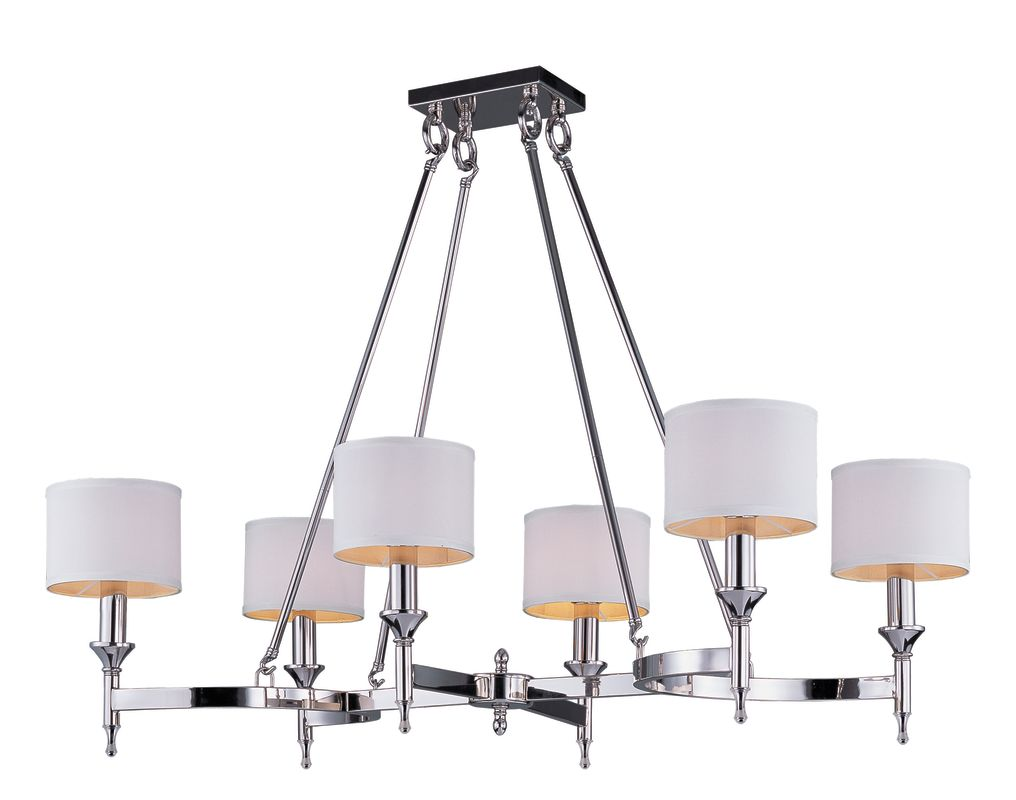 Maxim 22376 Fairmont 6 Light 1 Tier Candle Style Chandelier Polished