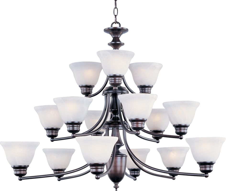 Maxim 2683 Malaga 15 Light 3 Tier Chandelier Oil Rubbed Bronze /