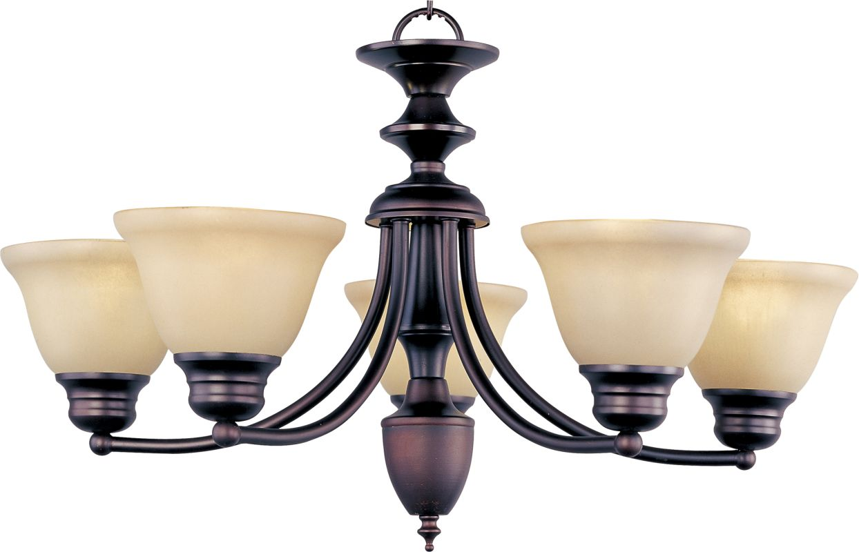 Maxim 2699 Malaga 5 Light 1 Tier Chandelier Oil Rubbed Bronze /
