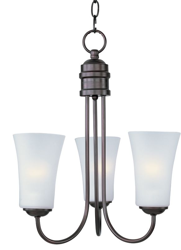 Maxim 10043 Logan 3 Light 1 Tier Chandelier Oil Rubbed Bronze Indoor