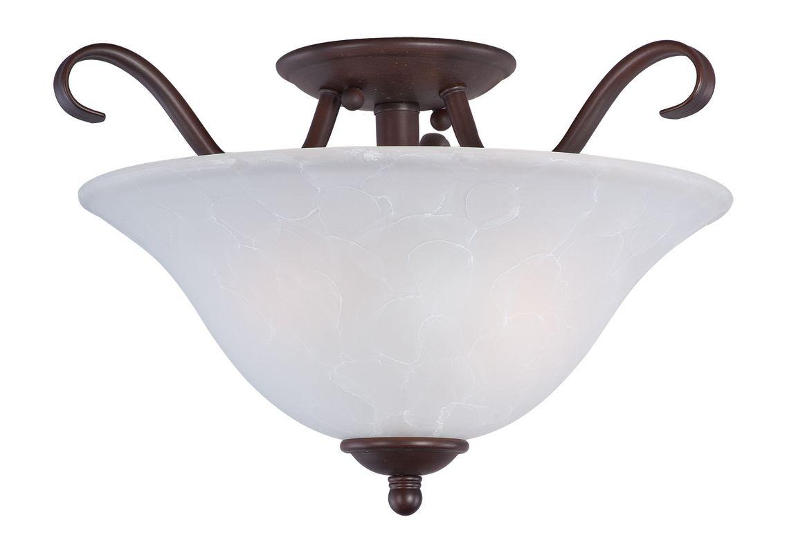 "Maxim 10120 2 Light 14"" Wide Semi-Flush Ceiling Fixture from the Basix"