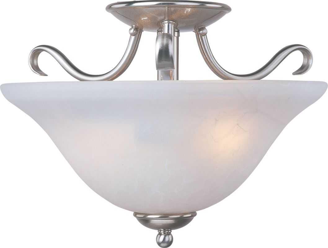 "Maxim 10120 2 Light 14"" Wide Semi-Flush Ceiling Fixture from the Basix"