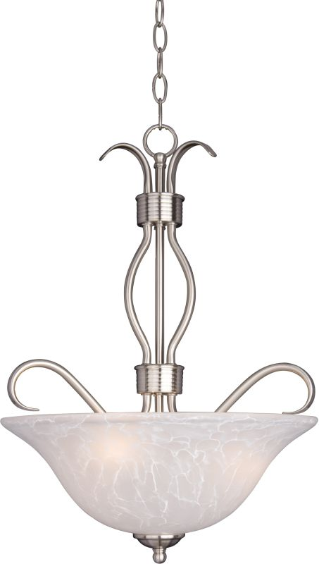 """Maxim 10121 3 Light 17"""" Wide Pendant from the Basix Collection Satin"""