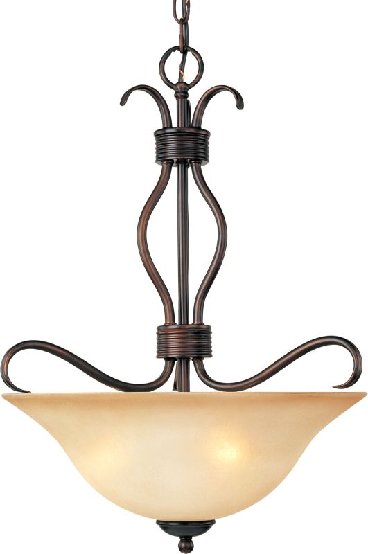 """Maxim 10121 3 Light 17"""" Wide Pendant from the Basix Collection Oil"""