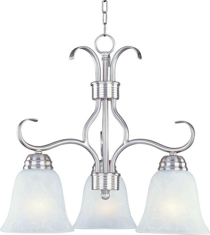 Maxim 10122 Basix 3 Light Single-Tier Chandelier Satin Nickel Indoor