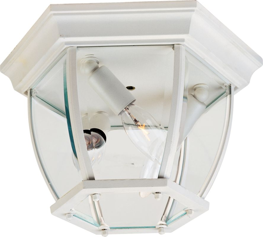 Maxim 1029 3-Bulb Flush Mount Outdoor Ceiling Fixture - Glass Shade Sale $39.80 ITEM: bci954572 ID#:1029WT UPC: 783209102910 :