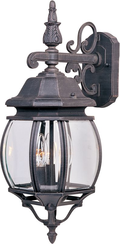 "Maxim 1034 3 Light 23"" Tall Outdoor Wall Sconce from the Crown Hill"