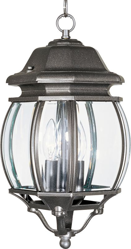 Maxim 1036 3 Light Outdoor Pendant from the Crown Hill Collection Rust