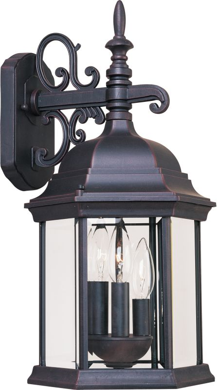 "Maxim 1073 3 Light 19"" Tall Outdoor Wall Sconce from the Builder Cast"