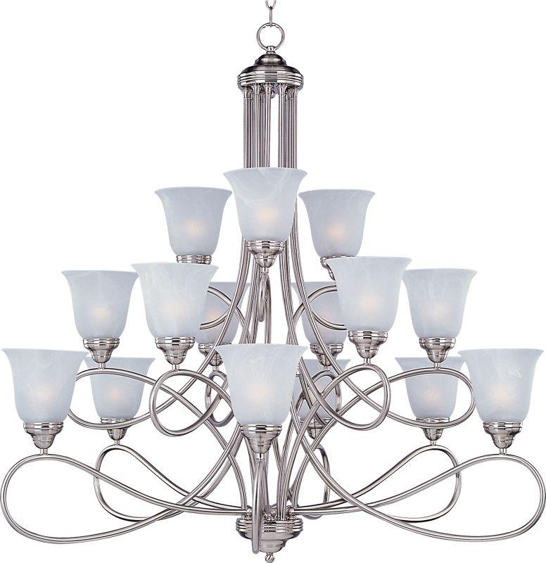 Maxim 11045 Nova 15 Light Triple-Tier Chandelier Satin Nickel / Marble Sale $798.00 ITEM: bci2629418 ID#:11045MRSN UPC: 783209012998 :
