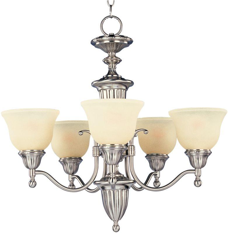 Maxim 11053 Soho 5 Light Single-Tier Chandelier Satin Nickel Indoor Sale $144.71 ITEM: bci2629424 ID#:11053SVSN UPC: 783209005891 :