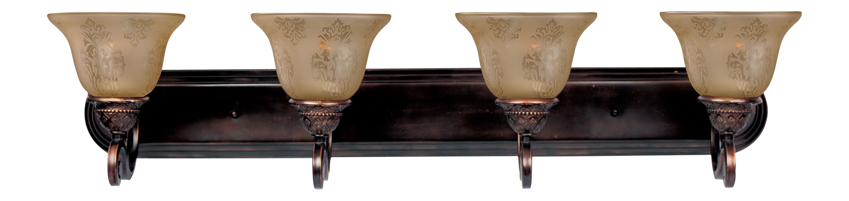 """Maxim 11233 4 Light 37"""" Wide Bathroom Fixture from the Symphony"""