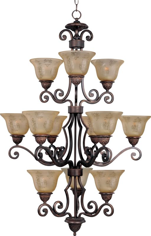 Maxim 11238 Symphony 12 Light Triple-Tier Chandelier Oil Rubbed Bronze Sale $768.00 ITEM: bci2629437 ID#:11238SAOI UPC: 783209009707 :