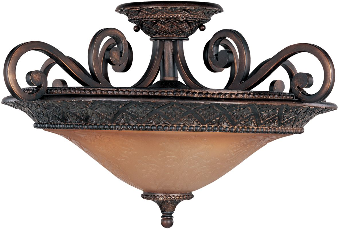 """Maxim 11241 3 Light 22.5"""" Wide Semi-Flush Ceiling Fixture from the"""